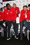 Real Madrid player Michael Essien participates and recives new Audi during the presentation of Real Madrid's new cars made by Audi at the Jarama racetrack on November 8, 2012 in Madrid, Spain.(ALTERPHOTOS/Harry S. Stamper)