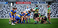 Taieri and Green Island set a scrum during the Dunedin Premier club rugby final between Green Island and Taieri played at Forsyth Barr Stadium in Dunedin, on Saturday 31st July, 2021. © John Caswell/Caswell Images