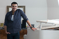 "Moscow, Russia, 08/03/2011..Azerbaijani rock singer Emin Agalarov in his Moscow apartment. Agalarov has released 5 albums, and his first UK album ""Memory"" is due for release. He is also the commercial director of the Crocus International company, founded by his father."