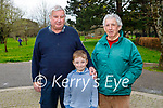 Enjoying a stroll in the Tralee town park on Monday, l to r: Donnacha O'Sullivan, Martin Daly and Paddy Moriarty.
