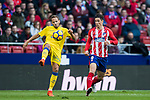 Daniel Castellano Betancor, Dani Castellano (L), of UD Las Palmas fights for the ball with Fernando Torres of Atletico de Madrid during the La Liga 2017-18 match between Atletico de Madrid and UD Las Palmas at Wanda Metropolitano on January 28 2018 in Madrid, Spain. Photo by Diego Souto / Power Sport Images