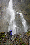 New Zealand, South Island, Fiordland National Park: Earland Falls on the Routeburn track | Neuseeland, Suedinsel, Fiordland National Park: Earland Wasserfall, den man auf dem Routeburn track passiert