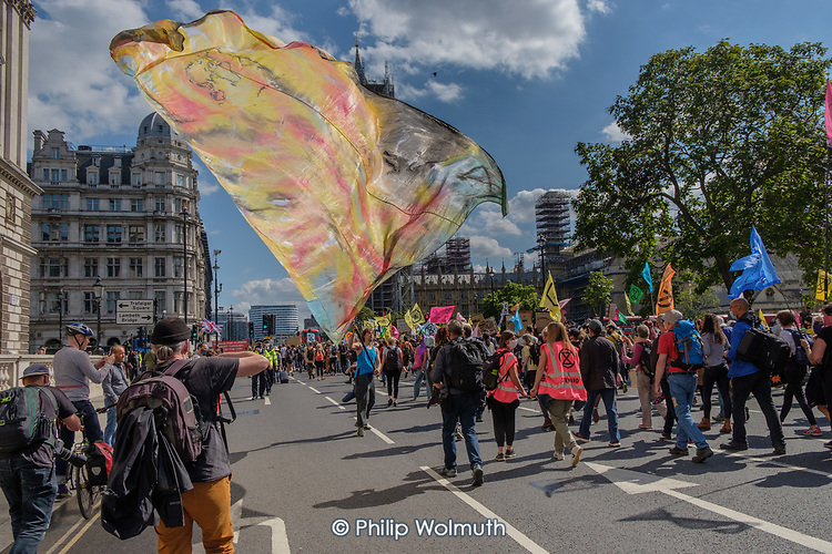 Extinction Rebellion protest, Parliament Square, London