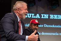 """Der ehemalige Praesident Brasiliens, Luiz Inacio Lula da Silva sprach am Dienstag den 10. Maerz 2020 in Berlin auf einer Veranstaltung der Friedrich Ebert Stiftung und der Gewerkschaft IG Metall vor ca. 600 Menschen. <br /> Sein Thema war """"Verteidigung der Demokratie in Brasilien"""".<br /> Im Bild: <br /> 10.3.2020, Berlin<br /> Copyright: Christian-Ditsch.de<br /> [NUR FUER REDAKTIONELLE ZWECKE! Werbung nur auf Anfrage beim Fotografen. Inhaltsveraendernde Manipulation des Fotos nur nach ausdruecklicher Genehmigung des Fotografen. Vereinbarungen ueber Abtretung von Persoenlichkeitsrechten/Model Release der abgebildeten Person/Personen liegen nicht vor. NO MODEL RELEASE! Don't publish without copyright Christian-Ditsch.de, Veroeffentlichung nur mit Fotografennennung, sowie gegen Honorar, MwSt. und Beleg. Konto: I N G - D i B a, IBAN DE58500105175400192269, BIC INGDDEFFXXX, Kontakt: post@christian-ditsch.de<br /> Bei der Bearbeitung der Dateiinformationen darf die Urheberkennzeichnung in den EXIF- und  IPTC-Daten nicht entfernt werden, diese sind in digitalen Medien nach §95c UrhG rechtlich geschuetzt. Der Urhebervermerk wird gemaess §13 UrhG verlangt.]"""