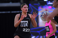 U21s' Paris Lokotui in action during the Cadbury Netball Series match between NZ A and NZ Under-21 at the Fly Palmy Arena in Palmerston North, New Zealand on Thursday, 22 October 2020. Photo: Dave Lintott / lintottphoto.co.nz