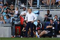 ST PAUL, MN - AUGUST 14: Minnesota United FC head coach Adrian Heath during a game between Los Angeles Galaxy and Minnesota United FC at Allianz Field on August 14, 2021 in St Paul, Minnesota.