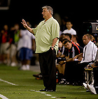 Sigi Schmid. The Seattle Sounders defeated DC United, 2-1, to win the 2009 Lamr Hunt U.S. Open Cup at RFK Stadium in Washington, DC.