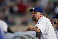 David Wells of the Los Angeles Dodgers during a 2007 MLB season game at Dodger Stadium in Los Angeles, California. (Larry Goren/Four Seam Images)
