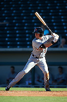 Scottsdale Scorpions outfielder Mike Gerber (9) at bat during an Arizona Fall League game against the Mesa Solar Sox on October 19, 2015 at Sloan Park in Mesa, Arizona.  Scottsdale defeated Mesa 10-6.  (Mike Janes/Four Seam Images)