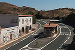 Frontier customs buildings between Portbou Spain and Cerbere in France. Looking from France towards Spain 2016