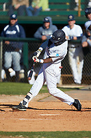 Malachi Hanes (11) of the Catawba Indians at bat against the Wingate Bulldogs at Newman Park on March 19, 2017 in Salisbury, North Carolina. The Indians defeated the Bulldogs 12-6. (Brian Westerholt/Four Seam Images)