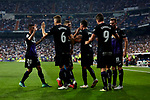 CD Leganes's players celebrate goal during La Liga match. September 01, 2018. (ALTERPHOTOS/A. Perez Meca)