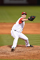 Arkansas Travelers pitcher Nick Maronde (33) delivers a pitch during a game against the San Antonio Missions on May 24, 2014 at Dickey-Stephens Park in Little Rock, Arkansas.  Arkansas defeated San Antonio 4-2.  (Mike Janes/Four Seam Images)