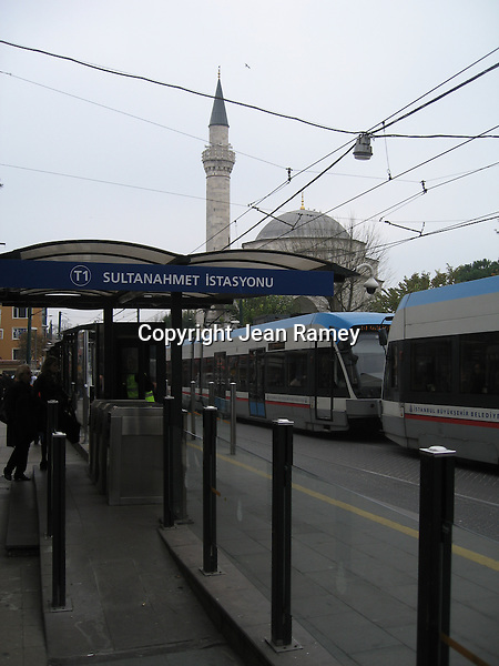 Sultanahmet tram stop & mosque