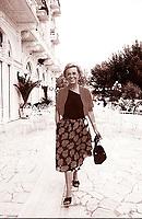 Giulietta Masina, è stata un'attrice cinematografica italiana. Moglie di Federico Fellini. Rimini,<br /> Grand Hotel, 26 settembre 1983. Photo by Leonardo Cendamo/Gettyimages