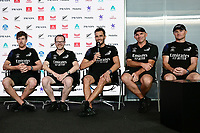 17th March 2021; Waitemata Harbour, Auckland, New Zealand;  Peter Burling, Dan Bernasconi, Blair Tuke, Ray Davies and Glenn Ashby (Emirates Team New Zealand).<br />