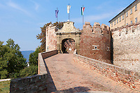 Entrance of Siklos castle ( siklosi var) near Villany, Hungary