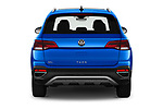 Straight rear view of 2022 Volkswagen Taos SEL 5 Door SUV Rear View  stock images