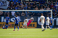 SAN JOSE, CA - AUGUST 8: JT Marcinkowski #1 during a game between Los Angeles FC and San Jose Earthquakes at PayPal Stadium on August 8, 2021 in San Jose, California.