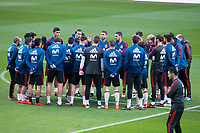 Spain coach Julen Lopetegui talking with his team during training session the day before Spain and Argentina match at Wanda Metropolitano in Madrid , Spain. March 26, 2018. (ALTERPHOTOS/Borja B.Hojas) /NortePhoto NORTEPHOTOMEXICO