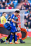 Hernan Arsenio Perez of Deportivo Alaves walks off the pitch with an injury during the La Liga 2017-18 match between Real Madrid and Deportivo Alaves at Santiago Bernabeu Stadium on February 24 2018 in Madrid, Spain. Photo by Diego Souto / Power Sport Images