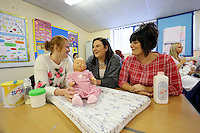 Pictured: Child Care course. Tuesday 23 September 2014<br />