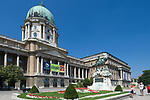 HUN, Ungarn, Budapest, Budaer Burgberg, Burgviertel: Budaer Burgpalast, Ungarische Nationalgalerie | HUN, Hungary, Budapest, Castle District: Royal Palace with Hungarian National Gallery