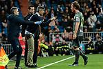 Real Sociedad's coach Asier Garitano and Adnan Januzaj during La Liga match between Real Madrid and Real Sociedad at Santiago Bernabeu Stadium in Madrid, Spain. January 06, 2019. (ALTERPHOTOS/A. Perez Meca)<br />  (ALTERPHOTOS/A. Perez Meca)