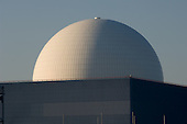The dome of the pressurised water reactor at Sizewell B nuclear power station, Suffolk.
