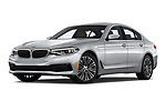 Stock pictures of low aggressive front three quarter view of 2019 BMW 5-Series 530I-Sport-Line 4 Door Sedan Low Aggressive