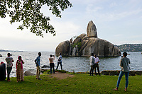 TANZANIA, Mwanza, Bismarck rock at Lake Victoria, named after the german chancellor Bismarck during colonial time German East-Africa / TANSANIA, Mwanza, Bismarck Felsen am Viktoria See, benannt nach dem Reichskanzler Otto Fuerst von Bismarck waehrend der deutschen Kolonialzeit Deutsch-Ostafrika