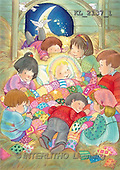 Interlitho, Soledad, CHRISTMAS CHILDREN, naive, paintings, kids, Jesus(KL2137/1,#XK#) Weihnachten, Navidad, illustrations, pinturas