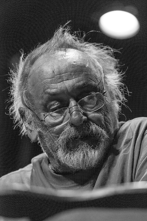 """Jim Harrison reads at a benefit for the movie """"Winter in the Blood"""". Held at the Dulcie Theater in Livingston MT, sponsored by Elk River Books, the movie is based on the novel of the same name by James Welch."""