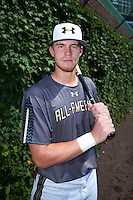 Seth Beer (12) of Lambert High School in Suwanee, Georgia poses for a photo before the Under Armour All-American Game on August 15, 2015 at Wrigley Field in Chicago, Illinois. (Mike Janes/Four Seam Images)