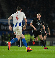 Burnley's Chris Wood (right) <br /> <br /> Photographer David Horton/CameraSport<br /> <br /> The Premier League - Brighton and Hove Albion v Burnley - Saturday 9th February 2019 - The Amex Stadium - Brighton<br /> <br /> World Copyright © 2019 CameraSport. All rights reserved. 43 Linden Ave. Countesthorpe. Leicester. England. LE8 5PG - Tel: +44 (0) 116 277 4147 - admin@camerasport.com - www.camerasport.com