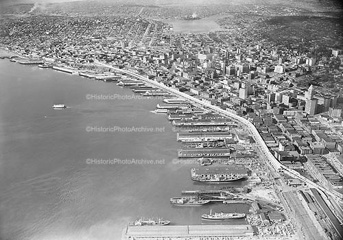 """0103-A045""""Seattle Waterfront. April 16, 1953."""""""