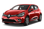 2017 Renault Clio Intens 5 Door Hatchback Angular Front stock photos of front three quarter view