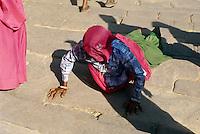 Pilger zum Ganesha-Tempel, Fort Ranthambhore, Indien