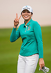 Mi-Jung Hur of Korea poses for photos during the Hyundai China Ladies Open 2014 on December 10 2014 at Mission Hills Shenzhen, in Shenzhen, China. Photo by Xaume Olleros / Power Sport Images