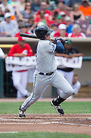 Blaise Salter (24) of the West Michigan Whitecaps follows through on his swing against the Dayton Dragons at Fifth Third Field on May 29, 2017 in Dayton, Ohio.  The Dragons defeated the Whitecaps 4-2.  (Brian Westerholt/Four Seam Images)