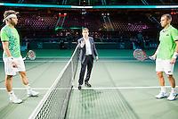 Rotterdam, The Netherlands, Februari 8, 2016,  ABNAMROWTT, Jiri Vesely (CZE) - Lukas Rosol (CZE)<br /> Photo: Tennisimages/Henk Koster