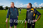 Paddy Kelly (Vice Chair Meath GAA) and Billy Ryle (Austin Stacks Chairman) having a chat during the visit to Austin Stacks GAA club by the Meath senior hurlers on Saturday evening.