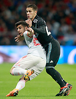 Spain's Marco Asensio (l) and Argentina's Fabricio Bustos during international friendly match. March 27,2018.(ALTERPHOTOS/Acero) /NortePhoto.com NORTEPHOTOMEXICO