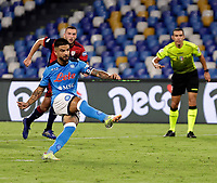 26th September 2021; Maradona Stadium, Naples, Italy; Serie A football, Napoli versus Cagliari :  Lorenzo Insigne of Napoli shoots to score for 2- 0  from the penalty kick in 57th minute