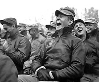 Audience reaction to the Bob Hope show at Seoul, Korea.  October 23, 1950.  Capt. Bloomquist. (Army)<br /> NARA FILE #  111-SC-351580<br /> WAR & CONFLICT BOOK #:  1470