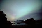 Auroa Borealis, Northern Lights, the big dipper, Clayoquot Sound, Vargas Island, Vancouver Island, British Columbia, Canada,.