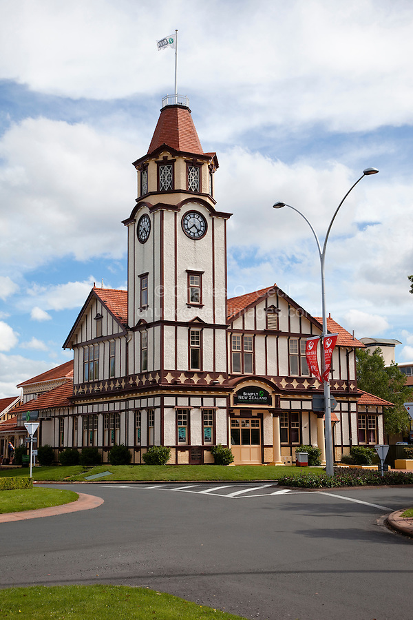 Rotorua Clock Tower, Tourist Information  Center.