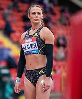 23rd May 2021; Gateshead International Stadium, Gateshead, Tyne and Wear, England; Muller Diamond League Grand Prix Athletics, Gateshead; Lieke Klaver before the women's 400m race