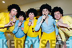 'The Jackson 5' L-R Jim Jones, Mike Parker, Darragh Behan, Padraig Logue and Con O'Keeffe at the Kerry Comogie 'Stars in their Eyes' concert last Saturday night in the Ballyroe heights hotel, Tralee.