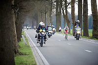 race leaders Alexander Kristoff (NOR/Katusha) & Niki Terpstra (NLD/Etixx-QuickStep) in the final 5km<br /> <br /> 99th Ronde van Vlaanderen 2015